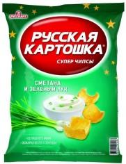 Чипсы Русская картошка Сметана/Лук 80 гр, шт