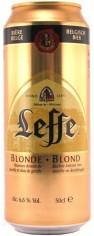 Пиво Леффе Блонд светлое  6,6% 0,5л ж/б