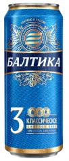 Пиво Балтика 3  4,8%  0,45л ж/б