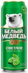 Пиво Белый медведь светлое  5% 0,45л ж/б